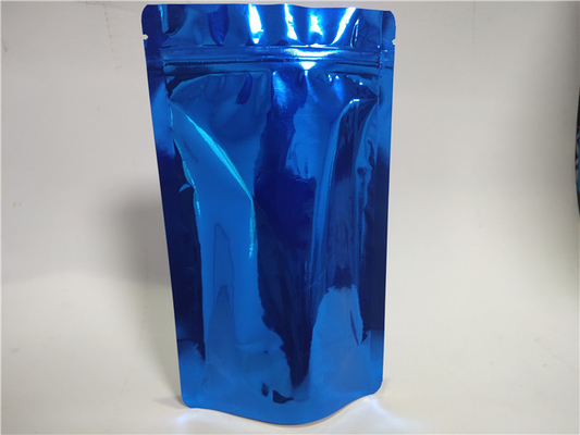 China Versatile Aluminum Foil Stand Up Pouch Blue High Temperature Resistance supplier