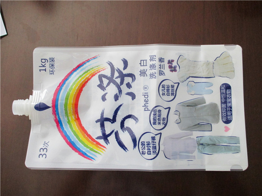 China Leak Proof Stand Up Pouch With Spout , Liquid Pouch With Spout Flexible Packaging supplier