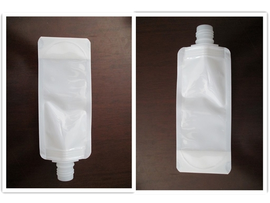China White Color Stand Up Pouch With Spout Customized Size QS / FDA Certificated distributor